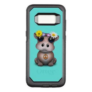Capa OtterBox Commuter Para Samsung Galaxy S8 Hippie bonito do hipopótamo do bebê