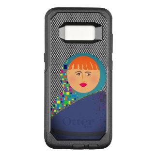 Capa OtterBox Commuter Para Samsung Galaxy S8 Hipster moderno dos desenhos animados da boneca do