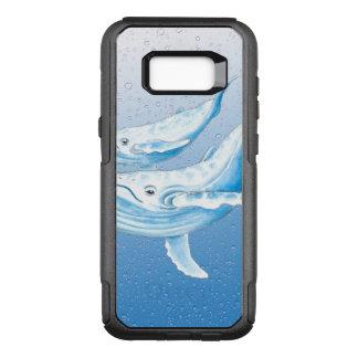 Capa OtterBox Commuter Para Samsung Galaxy S8+ Humpbacks azuis Waterdrops