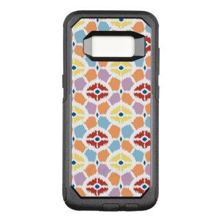 Capa OtterBox Commuter Para Samsung Galaxy S8 Ikat colorido dos diamantes geométrico