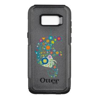 Capa OtterBox Commuter Para Samsung Galaxy S8+ Ilustração floral colorida do elefante