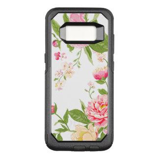 Capa OtterBox Commuter Para Samsung Galaxy S8 Ilustração moderna dos rosas elegantes do rosa