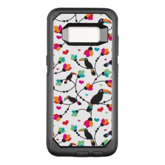 Capa OtterBox Commuter Para Samsung Galaxy S8 ilustração tropical do pássaro toucan bonito