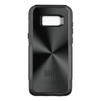 Capa OtterBox Commuter Para Samsung Galaxy S8+ Impressão de aço inoxidável brilhante preto