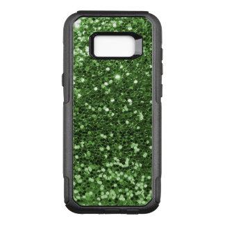 Capa OtterBox Commuter Para Samsung Galaxy S8+ Impressão verde Glam do divertimento do brilho do