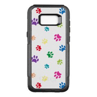 Capa OtterBox Commuter Para Samsung Galaxy S8+ Impressões pintados arco-íris da pata