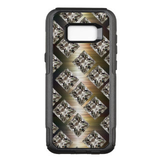 Capa OtterBox Commuter Para Samsung Galaxy S8+ Jóias chamativos do cristal de rocha do falso