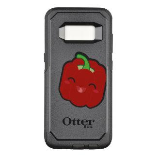 Capa OtterBox Commuter Para Samsung Galaxy S8 Kawaii e pimenta vermelha engraçada
