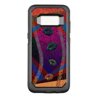 Capa OtterBox Commuter Para Samsung Galaxy S8 Lábios abstratos fluorescentes Trippy