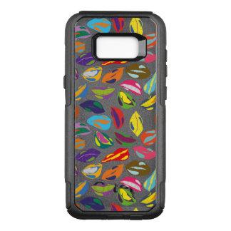 Capa OtterBox Commuter Para Samsung Galaxy S8+ Lábios coloridos retros psicóticos do teste padrão