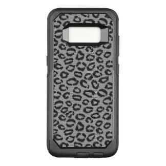 Capa OtterBox Commuter Para Samsung Galaxy S8 Laço líquido preto com teste padrão do leopardo no