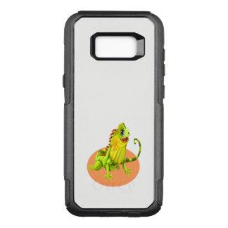 Capa OtterBox Commuter Para Samsung Galaxy S8+ Lagarto feliz verde adorável da iguana da natureza