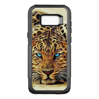 Capa OtterBox Commuter Para Samsung Galaxy S8+ Leopardo dos olhos azuis