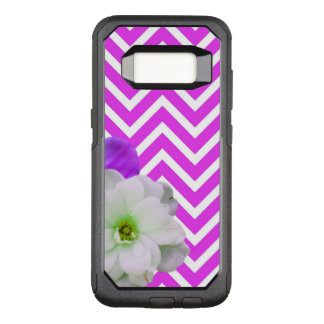 Capa OtterBox Commuter Para Samsung Galaxy S8 lilac da mistura da flor da viga
