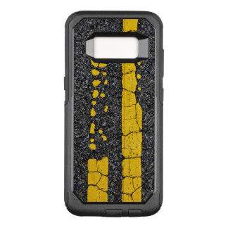 Capa OtterBox Commuter Para Samsung Galaxy S8 Linha amarela dobro deteriorada
