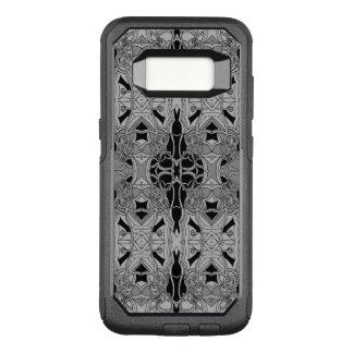 Capa OtterBox Commuter Para Samsung Galaxy S8 Linha extravagante design preto e branco da arte