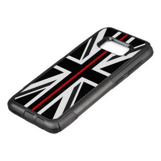 Capa OtterBox Commuter Para Samsung Galaxy S8+ Linha vermelha fina bandeira do Reino Unido
