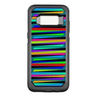 Capa OtterBox Commuter Para Samsung Galaxy S8 Linhas coloridas abstratas