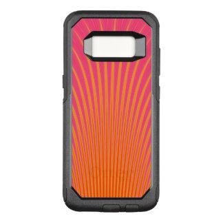 Capa OtterBox Commuter Para Samsung Galaxy S8 Linhas de incandescência lavanda cor-de-rosa