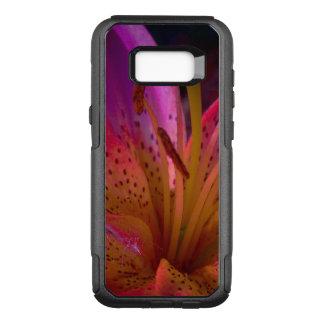 Capa OtterBox Commuter Para Samsung Galaxy S8+ Lírio cor-de-rosa - confusão bonita