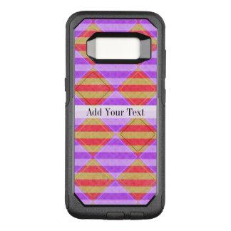 Capa OtterBox Commuter Para Samsung Galaxy S8 Listras, diamantes, teste padrão do ponto por