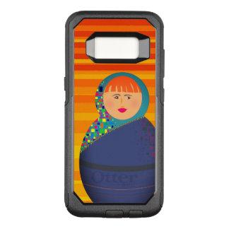 Capa OtterBox Commuter Para Samsung Galaxy S8 Listras vibrantes modernas da boneca do russo de