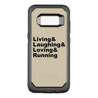 Capa OtterBox Commuter Para Samsung Galaxy S8 Living&Laughing&Loving&RUNNING (preto)