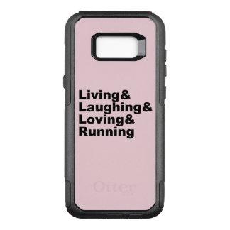 Capa OtterBox Commuter Para Samsung Galaxy S8+ Living&Laughing&Loving&RUNNING (preto)