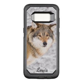 Capa OtterBox Commuter Para Samsung Galaxy S8 Lobo feito sob encomenda em uma floresta do