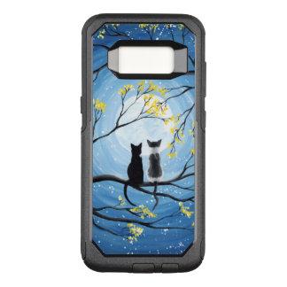 Capa OtterBox Commuter Para Samsung Galaxy S8 Lua lunática com gatos