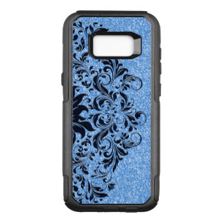 Capa OtterBox Commuter Para Samsung Galaxy S8+ Luz - brilho azul & design floral azul escuro do
