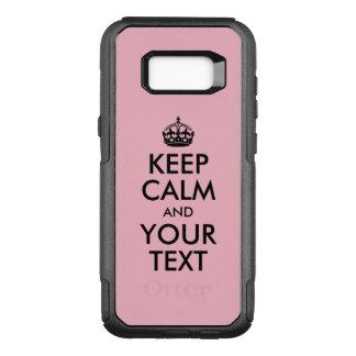 Capa OtterBox Commuter Para Samsung Galaxy S8+ Luz - o rosa e o preto mantêm a calma e o seu