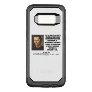 Capa OtterBox Commuter Para Samsung Galaxy S8 Machiavelli três classes de citações dos