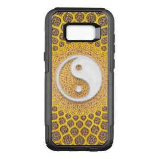 Capa OtterBox Commuter Para Samsung Galaxy S8+ Mandala amarela de Ying Yang