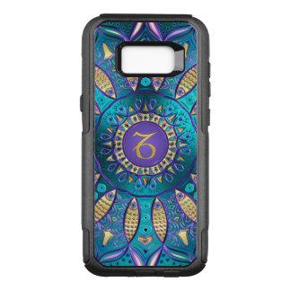 Capa OtterBox Commuter Para Samsung Galaxy S8+ Mandala do Capricórnio do sinal do zodíaco