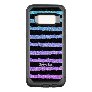Capa OtterBox Commuter Para Samsung Galaxy S8 Mão chique listras tiradas & textura do brilho