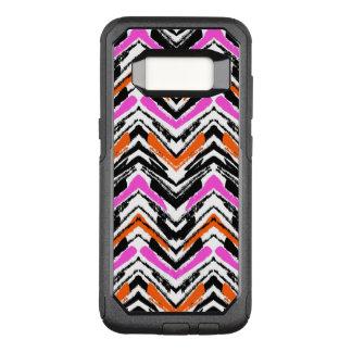 Capa OtterBox Commuter Para Samsung Galaxy S8 Mão preta, alaranjada, e cor-de-rosa teste padrão