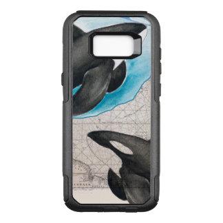 Capa OtterBox Commuter Para Samsung Galaxy S8+ Mapa das orcas