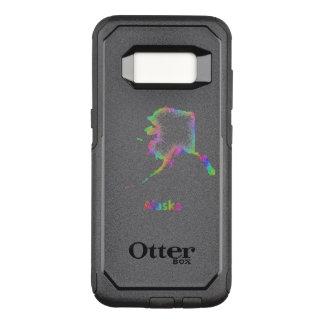 Capa OtterBox Commuter Para Samsung Galaxy S8 Mapa de Alaska do arco-íris