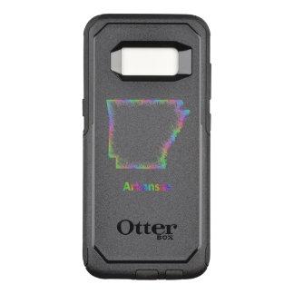 Capa OtterBox Commuter Para Samsung Galaxy S8 Mapa de Arkansas do arco-íris