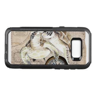 Capa OtterBox Commuter Para Samsung Galaxy S8+ Mapa de compasso das tartarugas de mar