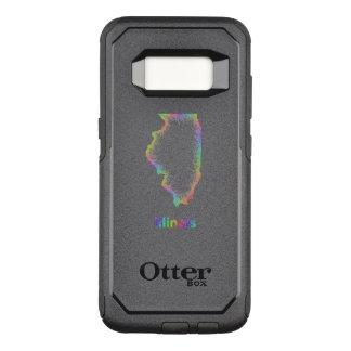 Capa OtterBox Commuter Para Samsung Galaxy S8 Mapa de Illinois do arco-íris