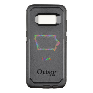 Capa OtterBox Commuter Para Samsung Galaxy S8 Mapa de Iowa do arco-íris