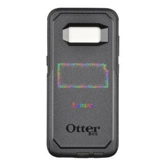 Capa OtterBox Commuter Para Samsung Galaxy S8 Mapa de Kansas do arco-íris