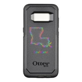 Capa OtterBox Commuter Para Samsung Galaxy S8 Mapa de Louisiana do arco-íris