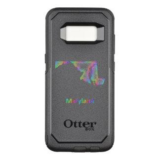 Capa OtterBox Commuter Para Samsung Galaxy S8 Mapa de Maryland do arco-íris