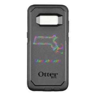 Capa OtterBox Commuter Para Samsung Galaxy S8 Mapa de Massachusetts do arco-íris