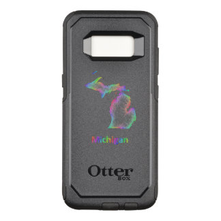 Capa OtterBox Commuter Para Samsung Galaxy S8 Mapa de Michigan do arco-íris