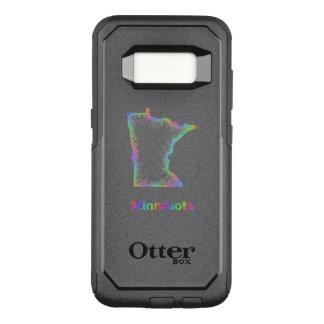 Capa OtterBox Commuter Para Samsung Galaxy S8 Mapa de Minnesota do arco-íris