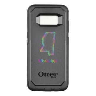 Capa OtterBox Commuter Para Samsung Galaxy S8 Mapa de Mississippi do arco-íris